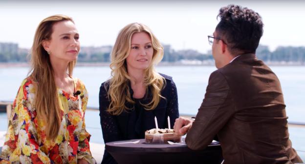 Riviera's Julia Stiles and Lena Olin