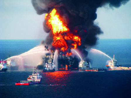 Financing TV production: Coast Guard Attempts Burning Off Oil Leaking From Sunken Rig